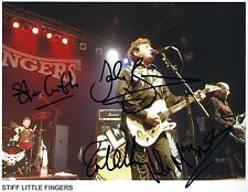 Stiff Little Fingers SIGNED Photo 1st Generation PRINT Ltd No'd + Certificate /1