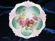 Vintage Porcelain Bowl R S Prussia Hand Painted Pink Rose w White Enamel Petals