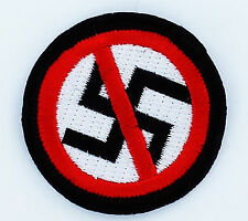 ANTI NAZI ANTI FASCIST PATCH PATCHES NEW IRON ON GLUE EMBROIDED