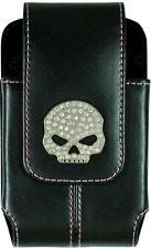 HARLEY DAVIDSON WILLIE G SKULL RHINESTONE IPHONE STRAP CASE