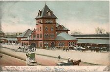 Railroad Station in Manchester NH Postcard