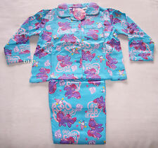 My Little Pony Girls Blue Pink Flannel Pyjama Set Size 2 New
