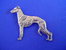Greyhound Whippet Pewter pin #11J Sighthound Dog Jewelry by Cindy A. Conter