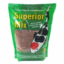 Koi Pond Fish Food Pellets Kockney Koi Superior Mix Floating 2mm 500g/1kg/2kg