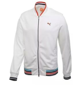 Puma Golf Mens Full Zip Track Jacket Size Small To XLarge Available Col White