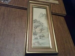 Vintage Antique Asian  Chinese? Woodblock Print Signed