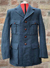 VINTAGE AIRFORCE WOOL TUNIC / JACKET / BLAZER, LEATHER BUTTONS, shooting hunting
