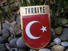 schöne alte TÜRKIYE TÜRKEI TURKEY Wappen emaillierte Auto Plakette Car Badge
