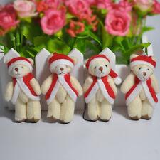 6cm Plush Small Cute Christmas Teddy Bear Xmas Stuffed Animals 12Pcs/lot