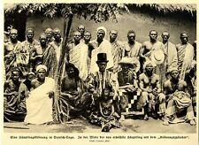 """Eine Häuptlingskrönung mit """"Krönungszylinder"""" in Deutsch-Togo c.1914"""