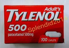 TYLENOL 100 caps Extra strength Paracetamol  Acetaminophen 500 mg  Relieve fever