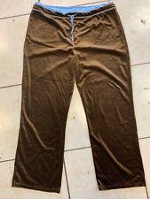 G.W. Sport Cotton Workout Pants in Black W/Blue Elastic Waist Size 3X