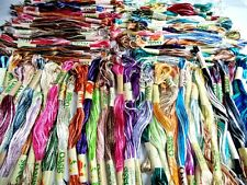 100 Variegated Oasis Art Silk Rayon Stranded Embroidery Skeins Threads Assorted
