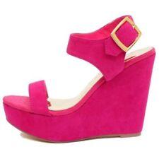 Zapatos de tacón de mujer plataformas de color principal rosa