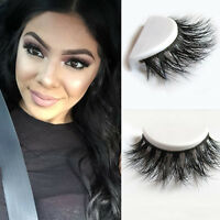 100% Real 3D Mink Makeup Cross False Eyelashes Eye Lashes Extension Handmade new