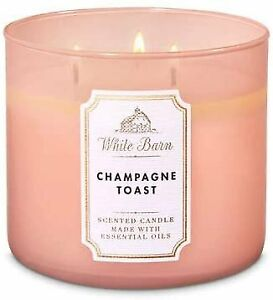 Champagne Toast 3 Wick Candle ~ White Barn ~ Bath and Body Works