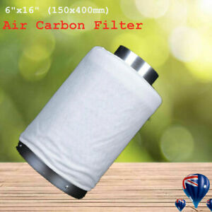 6 inch Ventilation Kit Inline Fan Carbon Filter Ducting Hydroponics Extractor