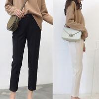 Women High Waist Casual Pants Formal Career Work Straight Leg Pencil Trousers