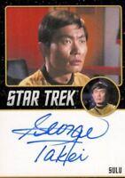 Star Trek TOS Portfolio Prints George Takei Sulu Autograph Card