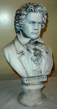 "Bust of Beethoven Large Sculpture Music Statue Art 18"" Antique white"
