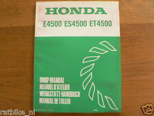 HONDA E4500,ES4500,ET4500 SHOP MANUAL FACTORY BOOK GENERATOR POWER K0 WERKSTATT