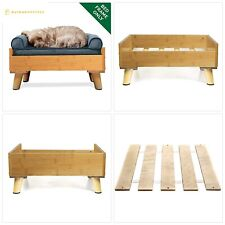 Furhaven Pet Dog Bed | Mid-Century Modern Pet Bed Frame for Dogs Cats - Availabl