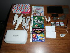 Nintendo DS Lite Onyx Black Handheld System With GAMES Crossword Bejeweled More