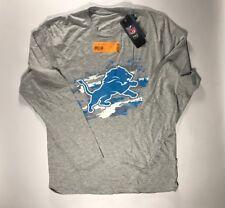 Detroit Lions Gray True Colors Long Sleeve T-Shirt Size Medium NWT