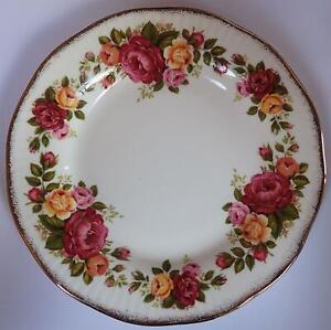 VINTAGE Elizabethan side tea plate Cottage Rose, 16cm, fine bone china