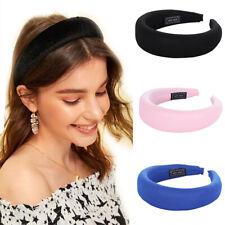 Fashion Women Girl's Padded Headband Hairband Sponge Hair Band Hoop Accessories