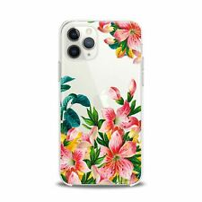 For iPhone 12 Pro Max Case 11 Mini SE Xr Xs 8 Plus 7 Lily Flowers Protective TPU