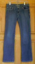 Suite Lady's Size 9 Low Rise Bootcut Distressed Blue Jeans