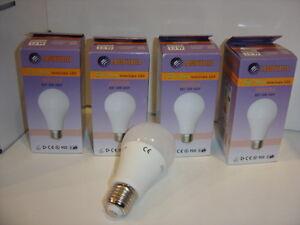 KIT 4pz Lampadina Goccia Led E27 13W consumo resa 100W luce calda Lampitalia