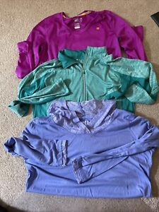 LOT OF  WOMANS ATHLETIC TOPS SIZE LARGE DANSKIN/CHAMPION/LIFE