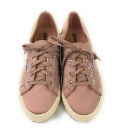 NEW Superga Women's Sz 7 Blush Pink 2750 Satin Casual Lace-up Low Top Sneakers