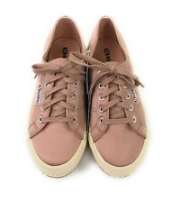 NEW Superga Women's Sz 7.5 Blush Pink 2750 Satin Casual Lace-up Low Top Sneakers