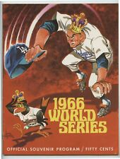 1966 World Series Los Angeles Dodgers Official Program - VG