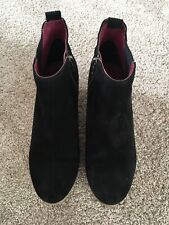 White Stuff Black Suede Wedge Ankle Boots UK 4 *worn Once*