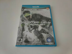 Tom Clancy's Splinter Cell Blacklist Nintendo Wii U Brand New Factory Sealed