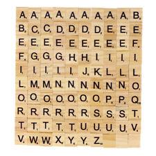 100pcs DIY Wood Letters Letters Tiles Scrabble Letters Replacement Square Crafts
