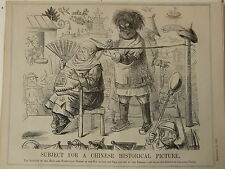 """7x10 """"PUNCH CARTOON 1853 soggetto per cinesi storico PICTURE Hair Cut Barber"""