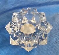 Vintage INDIANA GLASS CANDLE-LITE VOTIVE Candle Holder Clear Wedding Decor