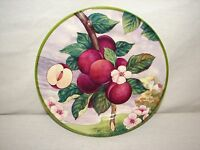 Italy Villa D'este Plum Hand painted China Fruit Plate    Fruit Plum Plate