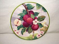 Italy Villa D'este Plum Hand painted China Fruit Plate ~ Fruit Plum Plate