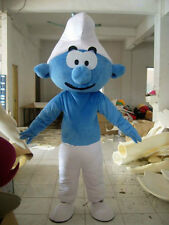 Special offer!Clever Smurf mascot costume for Party Size:63-67-71-74inch