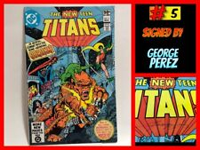 THE NEW TITANS #5 (DC, 1981 1st Print) SIGNED by GEORGE PEREZ NM!!!