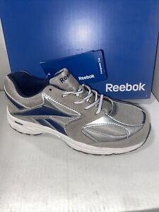 REEBOK RB4896 Ateron ESD  Gray Composite Toe Slip Resistant Work Shoe Size 8.5M