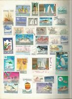 Schiffe Barcos Ship Lot Briefmarken Sellos Stamps Timbres