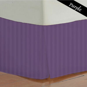 BED SKIRT PURPLE STRIPED SELECT DROP LENGTH ALL US SIZE 1000 TC EGYPTIAN COTTON