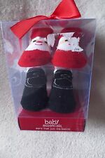 Baby Essential Girl Infant Socks 0-6 Months 2 Pairs Santa Christmas New